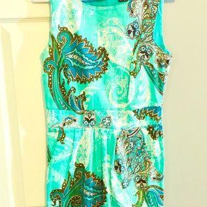 XOXO Multi-colored Paisley Sheath Dress Size 5/6
